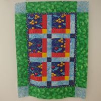 Funny Fish Baby Quilt