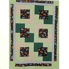 NighttimeJungle2 Baby Quilt
