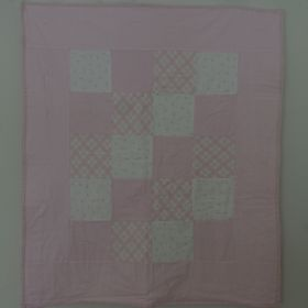 Pink 4-Patch Baby Quilt